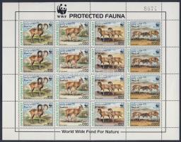 1998 WWF állatok 4 sort tartalmazó ív