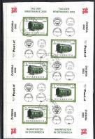 Day of stamps minisheet, Bélyegnap kisív, Tag der Briefmarke Kleinbogen