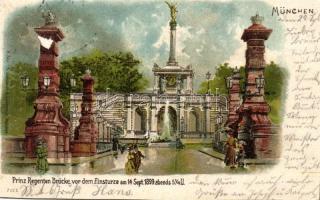 1899 München Prince Regent terrace litho (cut)