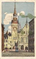 München old Town Hall litho
