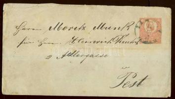1871 5kr díjjegyes boríték / PS- cover ZÁMOLY FEHÉR M. kék bélyegzéssel / blue cancellation