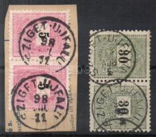 1889 5kr pár + 1898 30kr pár SZIGET-ÚJFALU