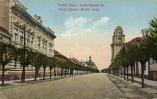 Senta, street 'vissza' So.Stpl (EK), Zenta, Sándor király utca 'vissza' So.Stpl (EK)