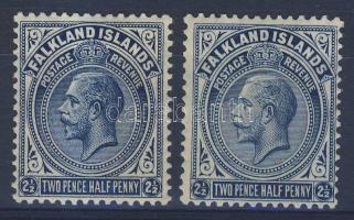 Falkland szigetek 1921 Mi 42 a + b (Mi EUR 459.-)