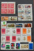KANADA és ENSZ gyűjtemény a 60-as 80-as évekből sok másodpéldánnyal, 10 lapos A/4 berakóban / Canada and United Nations collections from the 60 - 80-es with a lot of duplicates in stockbook