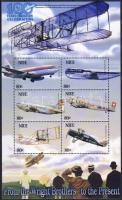 2003 100 éves a motoros repülés Mi 986-991 kisív