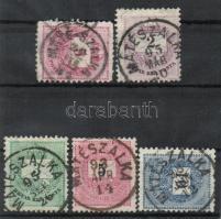 1881-1889 5klf bélyeg MÁTÉSZALKA