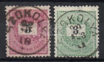 1889 5kr+1898 3kr SZOKOLYA