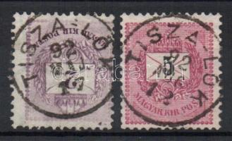 1881 2kr+1889 5kr TISZA-LÖK