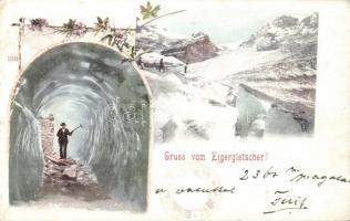 Eigergletscher, cave