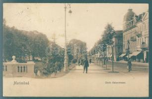 Marienbad, Mariánské Lázne, Obere Kaiserstrasse / street