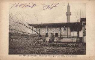 Mayadala, Platane brisé par un 210 / mosque, shattered plane tree