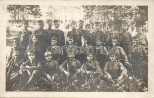 Soldiers, group photo, Katonai csoportkép, tüzérek, fotó