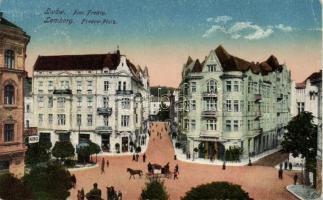 Lviv, Lwów, Lemberg; Plac Fredry, Kino / square, cinema