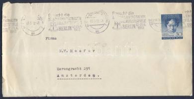 1952 Beethoven Mi87 egyes bérmentesítés levélen Hollandiába