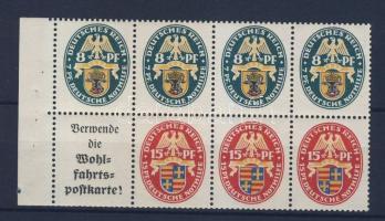 1928 Nothilfe bélyegfüzetlap / Stampbooklet sheet H-Blatt 64 (Mi 426-427)