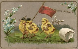 Easter, Emb. litho, Húsvét, Emb. litho