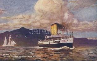 Steamer on River Clyde, Gőzhajó a Clyde folyón