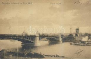 1905 Liege, Exposition universelle, Pont de Fragnée / World Fair, bridge, stemaship Ga.