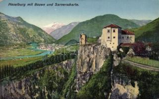 Bolzano, Bozen; Castel Flavon (Haselburg), Sarnerscharte / castle, mountain
