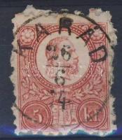1871 Réznyomat 5kr KARÁD