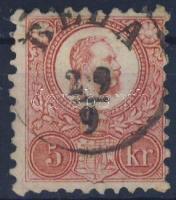 1871 Réznyomat 5kr BÉLA