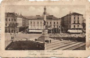 Lviv, Lemberg; Mickiewicz Monument (fl)