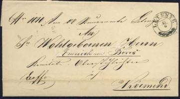 1862 Ex offo LETENYE - NAGY-KANISA - Körmend