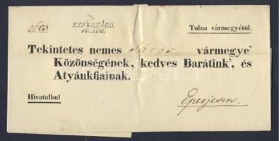 1843 Ex offo SZEKSZÁRD - Eperjes