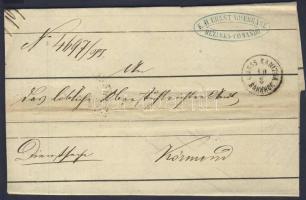 1866 Katonai / military ex offo GROSS KANIZSA BAHNHOF - KÖRMEND