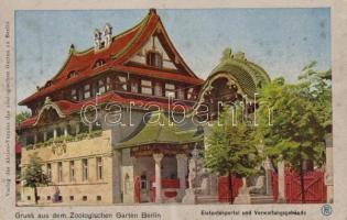 Berlin, Zoological Garden , elephants' portal and administration building, Berlin, Zoologischen Garten, Elefantenportal und Verwaltungsgebäude