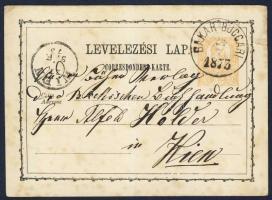 1873 Díjjegyes levelezőlap / PS-card BAKAR-BUCCARI - WIEN
