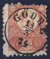 1871 Réznyomat 5kr / Mi 10 GÖDRE (E 3.12)