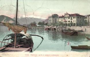 Pallanza, porto, palazzo comunale / port, town hall, ships