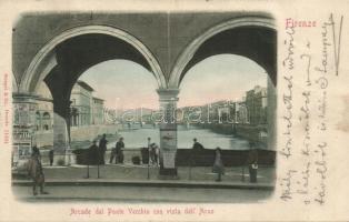Firenze, Florence; Arcade del Ponte Vecchio / arcade bridge