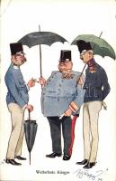 Wetterfeste krieger / K.u.K. Waterproof soldiers, humour, B.K.W.I. 359-2. s: Schönpflug, K.u.K. katonatisztek, humor, B.K.W.I. 359-2. s: Schönpflug