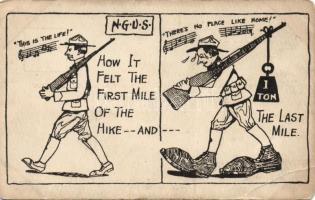National Guard of the United States military humorous card, Egyesült Államok Nemzeti Gárda katonai humoros lap
