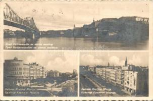 Novi Sad, Petervaradin, new bridge, street, Újvidék, Péterváradi új híd, Mária királyné út