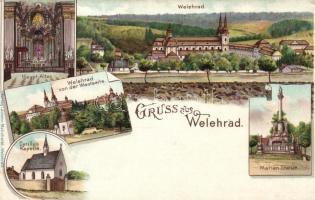 Velehrad, Welehrad; Cyrillus Kapelle, Basilika, Verlag Johann Melicharek, litho