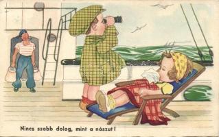 Honeymoon, children couple, humour 'Amag 0434.', Nincs szebb dolog mint a nászút! gyerekek, humor 'Amag 0434.'