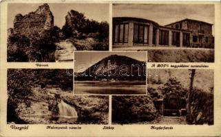 Visegrád, BOTE nagyvillámi turistaház, várrom, Magda forrás, Malompatak vízesés