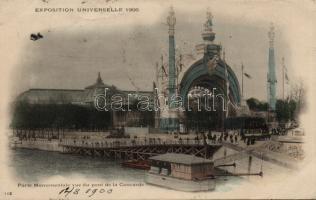 1900 Paris, Exposition Universelle, Porte Monumentale vue du pont de la Concorde / Universal Exhibiton, view of the Monumental gate from Concorde bridge