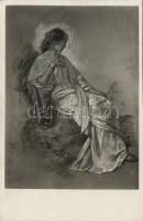 Tanulmány az Iphigenia című képhez 'Szépművészeti Múzeum Nr. 42.' pinx. Feuerbach, Study for the painting 'Iphigenia' pinx. Feuerbach