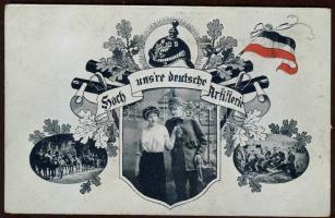German artillery, soldier with his lover, coat of arms, oak leaf, Német tüzérség, katona szerelmével, címer, tölgy levél