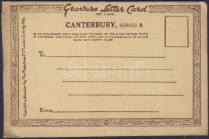 Canterbury Photocrome letter card with 6 pictures