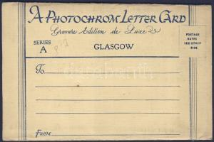 Glasgow Photocrome letter card with 6 pictures