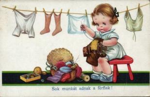 Child, housework, humour, Gyerek, házimunka, humor