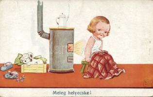 Child, stove s: John Wills, Gyerek, kályha s: John Wills