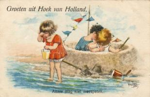 'Greetings from Hook of Holland, Annie can not participate' s: Arthur Thiele