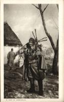 WWI, soldier with dear, after hunting, 'A tiszt úr zsákmánya' Első világháborús katona szarvassal, vadászat után 'Érdekes Újság'